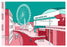 Festival Hall Aqua - Limited Edition Print