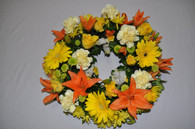 Awesome orange wreath