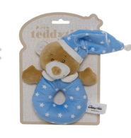 Snuggly Sleepytime Rattle (blue, pink, beige)