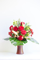 Mixed red rose bunch