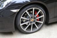 Porsche Wheels Gold Center caps hubcaps - Original GREY
