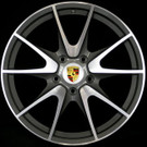 Porsche Wheels Gold Center caps hubcaps - Original Chromed (Turbo)
