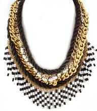 Necklace N 121154 GLD BLK