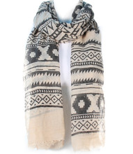 Scarf S 483 BEG BLK