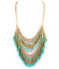 Necklace N 15262 GLD TRQ