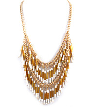 Necklace N 15262 GLD WHT