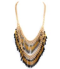 Necklace N 15262 GLD BLK