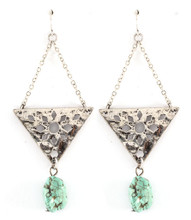 Earrings E 6568 SLV TRQ