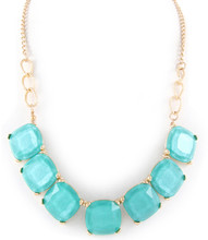 Necklace N 350025 GLD TURQ