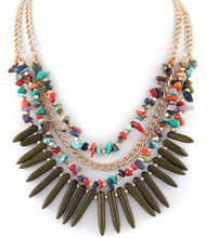 Necklace N 0083 GLD OLV