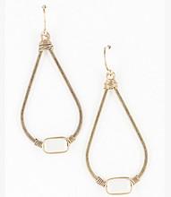Earring E 0104 GLD WHT