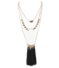 Necklace N 10533 GLD BLK