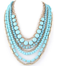 Necklace N 11264 GLD TURQ