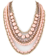 Necklace N 11264 GLD PNK