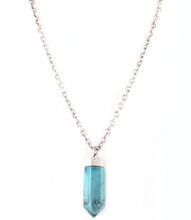 Necklace N 100358 SLV TURQ