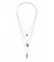 Necklace N 0220 SLV TURQ
