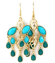 Earrings E 4109 GLD TURQ