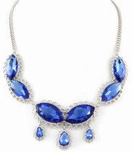 Necklace  N 1079 SLV BLU