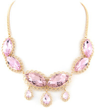 Necklace  N 1079 GLD PNK