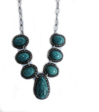 Necklace  N 262 SLV TURQ