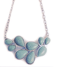 Necklace  N 035 SLV TURQ