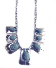 Necklace  N 136 SLV TURQ