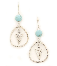 Earrings E 7113 SLV TURQ