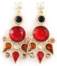 Earrings  E 3001 GLD RED
