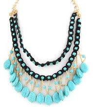 Necklace N 3396 GLD TURQ