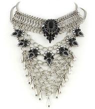 Necklace N 30316 SLV BLK