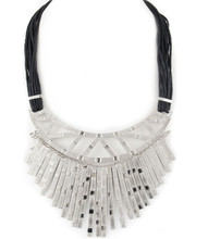 Necklace  N 1185 SLV BLK