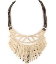 Necklace  N 1185 GLD BRN