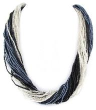 Necklace N 15603 SLV BLK