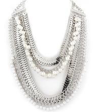 Necklace N 10730 SLV WHT