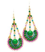 Earrings  E 5420 GLD GRN