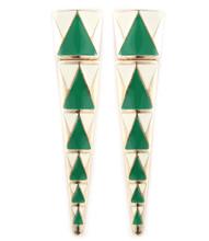 Earrings  E 5523 GLD GRN