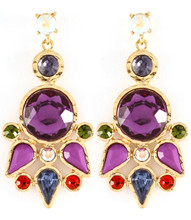 Earrings E 3001 GLD PRP