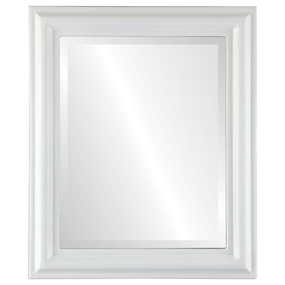 rectangle black frame. Beveled Mirror - Philadelphia Rectangle Frame Linen White Black
