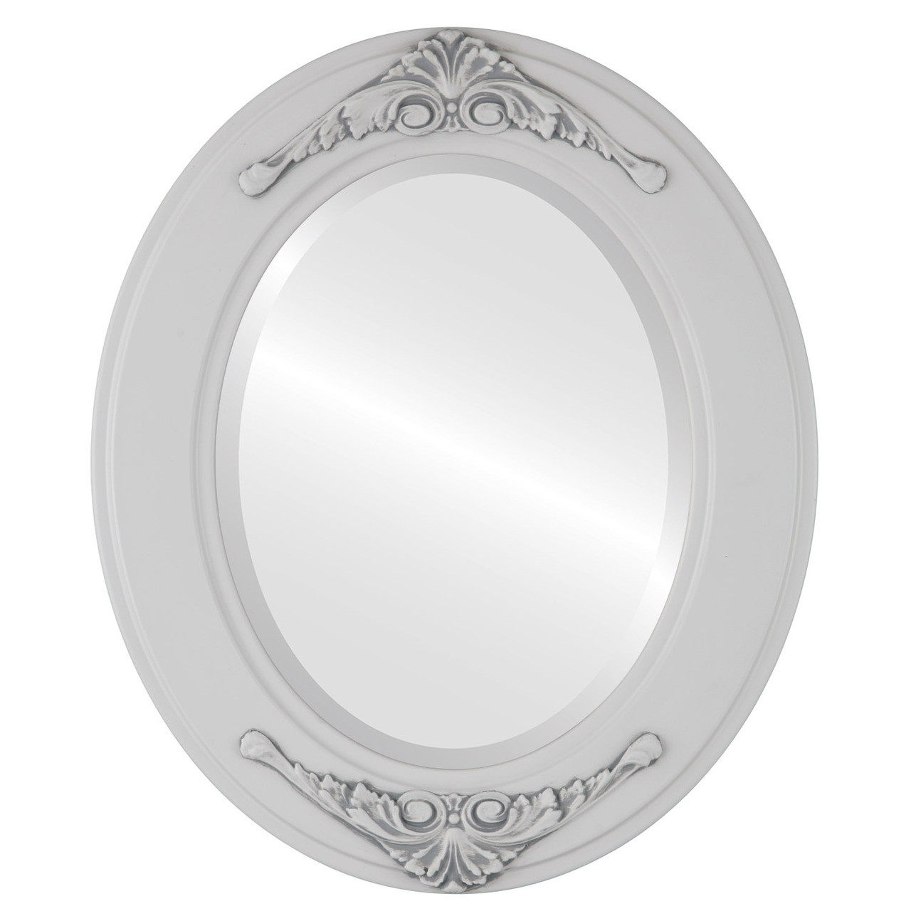 Vintage White Oval Mirrors from $127   Free Shipping