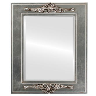 Beveled Mirror - Ramino Rectangle Frame - Silver Leaf with Brown Antique