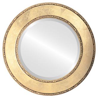 Beveled Mirror - Paris Round Frame - Gold Leaf
