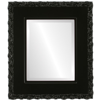 Beveled Mirror - Williamsburg Rectangle Frame - Gloss Black