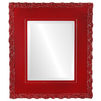 Beveled Mirror - Williamsburg Rectangle Frame - Holiday Red