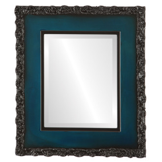 Beveled Mirror - Williamsburg Rectangle Frame - Royal Blue