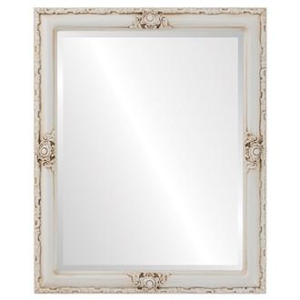 Beveled Mirror - Jefferson Rectangle Frame - Antique White