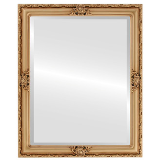 Beveled Mirror - Jefferson Rectangle Frame - Gold Paint
