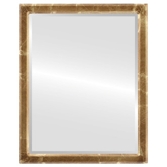 Beveled Mirror - Toronto Rectangle Frame - Champagne Gold