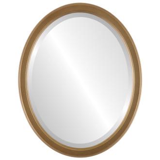 Beveled Mirror - Toronto Oval Frame - Desert Gold
