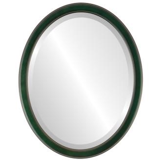 Beveled Mirror - Toronto Oval Frame - Hunter Green