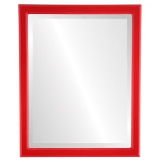 Beveled Mirror - Toronto Rectangle Frame - Holiday Red